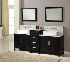 white double sink bathroom  inch horizon double vanity sink console in ebony w white