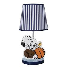 bedtime originals snoopy sports lamp with shade and bulb 1 of 2 see more