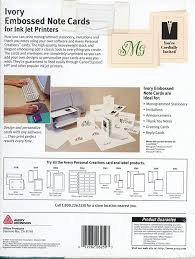 Amazon Com Avery Avery 3259 Ivory Embossed Note Cards For Ink Jet