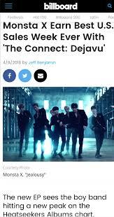 Billboard Charts 2018 Monsta X Takes No 2 Spot On Billboard World Album Charts