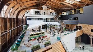 Google Architecture Design Zgf Converts Historic La Airplane Hangar Into Google Spruce