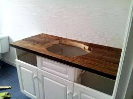 bathroom vanity counter tops. Rustic Wood Vanity: DIY Counter Top, Bathroom, Makeover Budget Farmhouse | House Pinterest Vanity, And Diy Bathroom Vanity Tops
