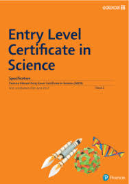 entry levle edexcel entry level certificate science pearson qualifications
