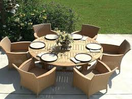 outdoor round dining table with expandable leaves patio umbrella hole canada lea