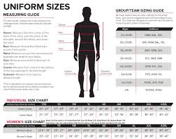 Uniform Sizing Score Sports