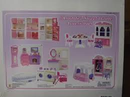 barbie size dollhouse furniture set. Barbie Size Doll House Dollhouse Furniture 5 Rooms W/ Lights And Sound Set