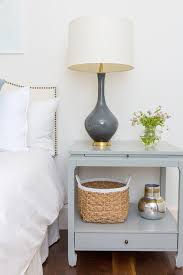 Image Bedroom Gray Nightstand With Charcoal Gray Lamp Amazoncom Gray Nightstand With Charcoal Gray Lamp Transitional Bedroom