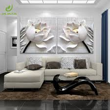 2019 <b>Modular Pictures 3D Art</b> Flower Lotus Poster Wall Art Modular ...