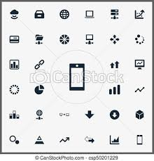 Pie Chart Synonym Vector Illustration Set Of Simple Information Icons Elements Hexagon Telephone Pie Chart And Other Synonyms Pie Graph And Drawer