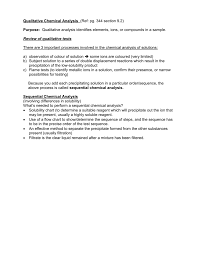Qualitative Chemical Analysis Ref Section 7