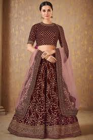 Choli Blouse Design Latest Maroon Embroidered Silk Wedding Wear Latest Lehenga Blouse Designs