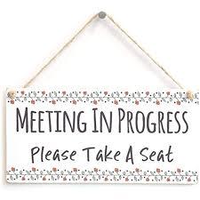 Do Not Disturb Meeting In Progress Sign Meijiafei Meeting In Progress Please Take A Seat Functional Do Not