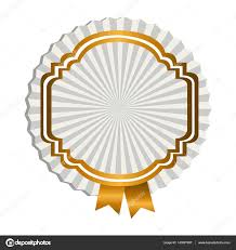 gold ribbon border emblem border with gold ribbon icon stock vector grgroupstock