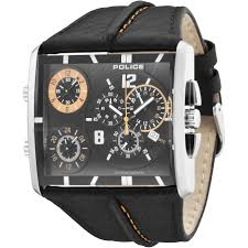 "men s police tripod chronograph watch 13497js 02 watch shop comâ""¢ mens police tripod chronograph watch 13497js 02"