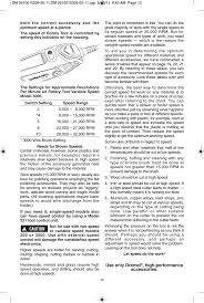 Dremel Speed Chart Dremel 3000 User Manual Page 12 68 Also For 200 100