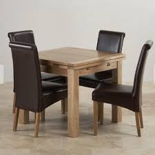 oak oak furniture land extending table and 6 brown leather chairs