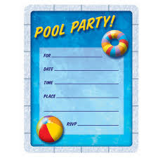 blank pool party invitation template invitations ideas birthday pool party invitations ukrobstep com