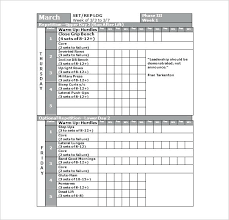 Workout Calendar Template Workout Schedule Template Excel Plan ...