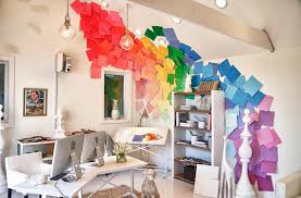 eclectic design home office. Delighful Home Inspiring Cheap Office Decor With Paint Color Interior Home Design Terrific  Wall Art Ideas On Eclectic I
