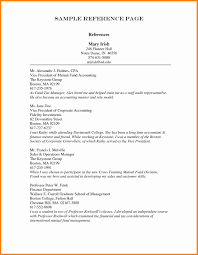 Resume Reference Page Template Sarahepps Com