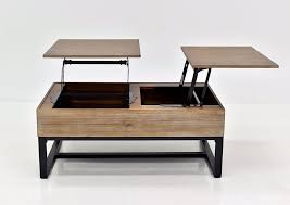 frisco dual lift top coffee table brown