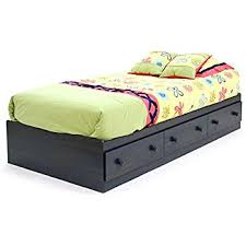 platform beds with storage. South Shore Summer Breeze Collection Twin Bed Storage - Platform 3 Drawers Blueberry Beds With