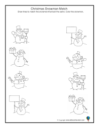 Snowman At Christmas Worksheet – Festival Collections
