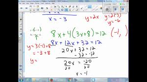 chapter 3 lesson 8 solve systems of equations algebraically