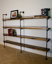 Home Organization:Simple Industrial Shelving Unit Idea On Ceramic Floor How  To Decorate Bookcases with