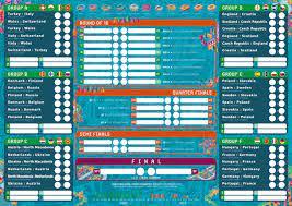 Free Euro 2020 printable wallchart