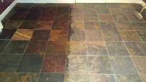 slate tile treated with enhancer sealer
