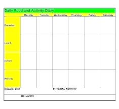 Food Journal Template Diary Worksheet My Free Download Printable