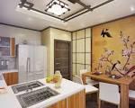 Дизайн кухни японский стиль