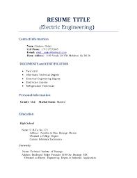 RESUME TITLE (Electric Engineering) Contact Information Name: Gustavo Ordaz  Cell Phone: ...