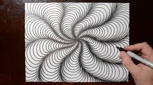 How To Draw Single Pattern Design How To Draw Curved Line Illusions Spiral Sketch Pattern 10