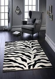 classic zebra rug grey animal print