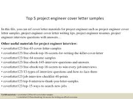 Letter Samples Top 5 Project Engineer Cover Letter Samples