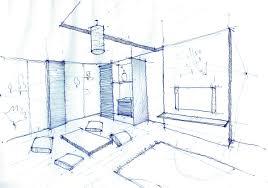 interior design drawings. Interior Design Drawing, Living Room Pen Sketch Drawings R