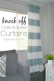 diy grommet top curtains a crate and barrel knock off making your own grommet