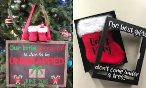 Christmas Birth Announcement Ideas 21 Christmas Pregnancy Announcement Ideas Stayglam