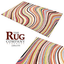 carpet paul smith swirl rug 3d model