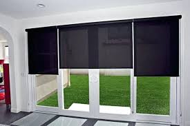 best window treatments for sliding glass doors black shades sliding glass door window treatment home designs