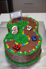 Birthday Cake Designs For 3 Year Olds No 3 Race Track Cake For 3rd Birthday 3rd Birthday
