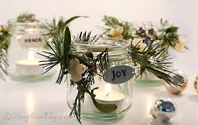 Glass Jar Table Decorations Decorated Christmas Jars 31
