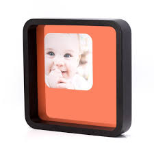 7x7 square black wood picture frame with glass front round corners made to display pictures