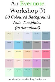 An Evernote Workshop 7 50 Coloured Background Note