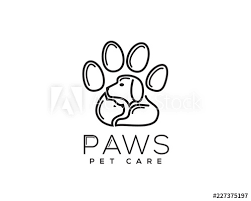 Cat And Dog In Paws Logo Design Inspiration Buy This Stock Vector