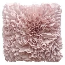 pink ruffle pillow. Simple Ruffle Grace Pink Raw Edge Ruffle Pillow 18 In For