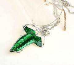 lord of the ring wizard leaf brooch pendant necklace jewelry whole 36 pcs