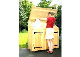 outdoor wooden garbage can holder wood garbage can storage trash sheds shed pine bin outdoor indoor